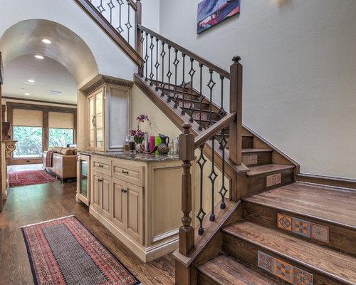 photos et id es d co d 39 escaliers sud ouest am ricain en u. Black Bedroom Furniture Sets. Home Design Ideas