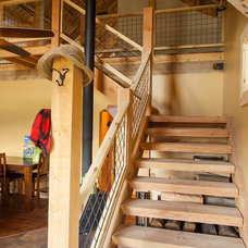 Traditional Staircase by Sand Creek Post & Beam