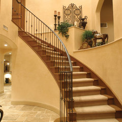 mediterranean staircase by HartmanBaldwin Design/Build