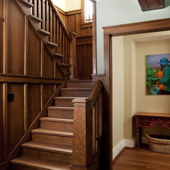 traditional staircase by Tongue & Groove