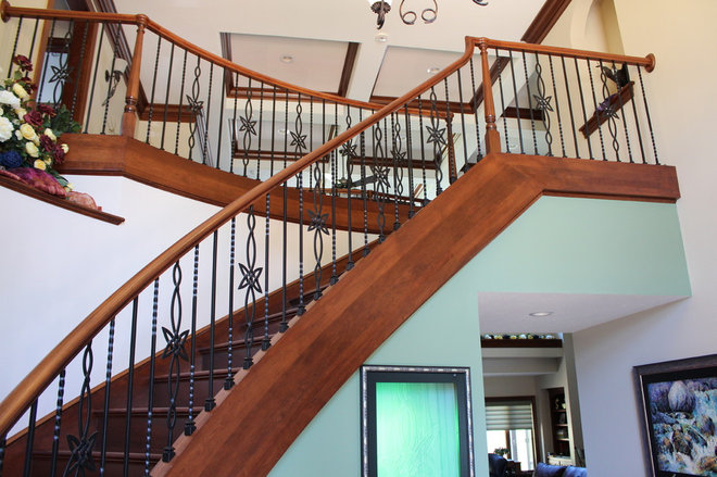 Transitional Staircase by Heartland Stairways