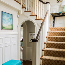 Traditional Staircase by Katie Rosenfeld Design