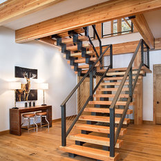 Custom Steel And Timber Stair, Modern Stair, Timbers