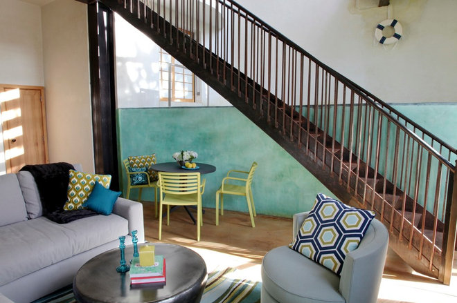 Contemporary Staircase by bd home design + interiors