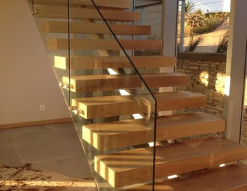 Indoor wood staircase  design