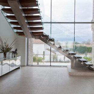 Indoor wood staircase  design