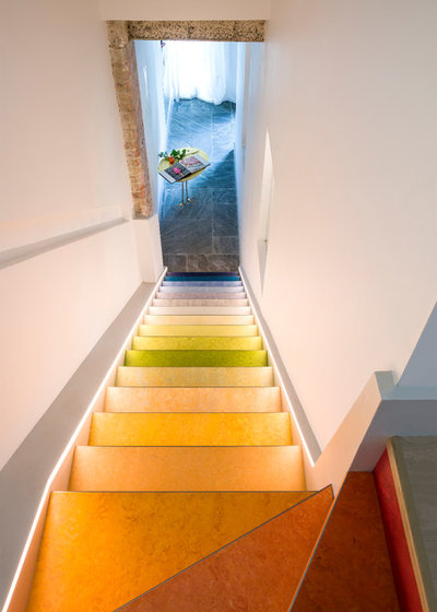 Eclectic Staircase by Cooley & Rose