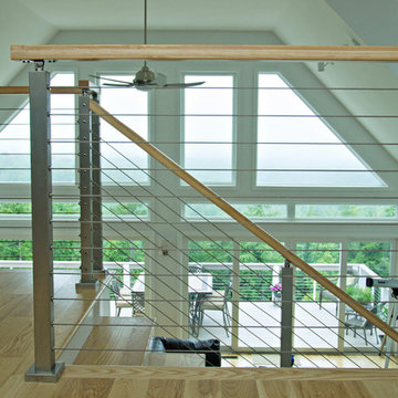 Interior Cable Railings add to Open Feel