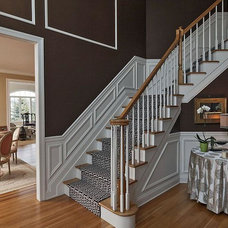 Traditional Staircase by Leslie Campbell & Associates