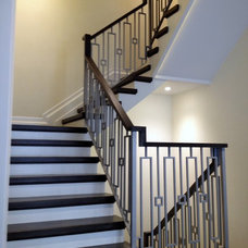 Eclectic Staircase by HMH Iron Design