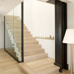 contemporary staircase by Landmark Builders