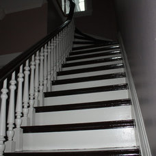 Traditional Staircase by Gray Painting