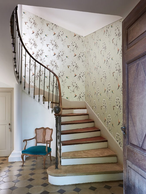 Staircase Ideas Part - 17: Design Ideas For A Classic Curved Metal Railing Staircase In West Midlands.