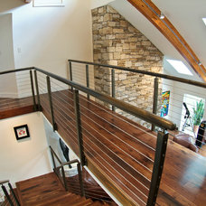 Contemporary Staircase by BenFab Architectural
