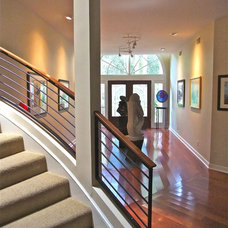 Contemporary Staircase by DNW Design