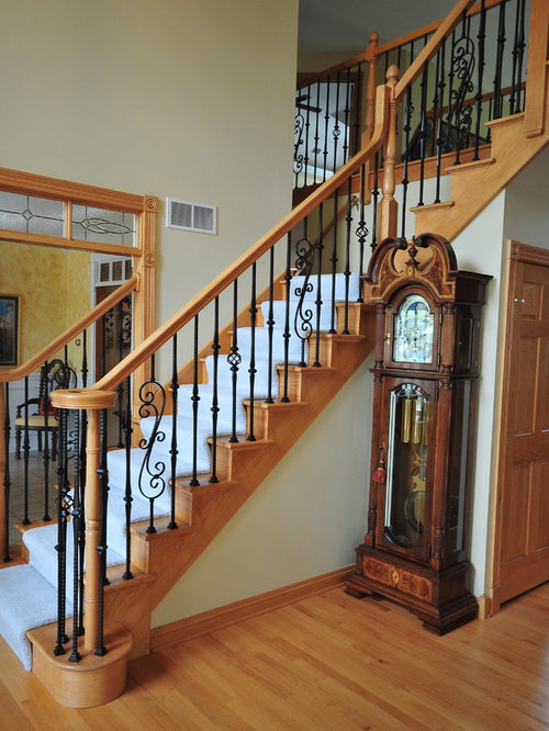 Wrought iron stairs home design ideas pictures remodel and decor - Give home signature look elegant balustrades ...