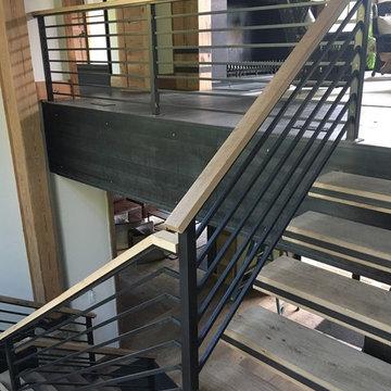 Interior Wood + Metal Stair & Railing Job