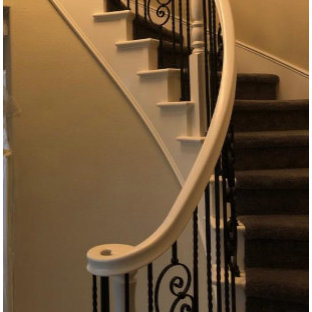 French country staircase photo in San Diego