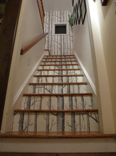 10 fa ons inattendues d 39 utiliser du papier peint for Papier peint cage d escalier