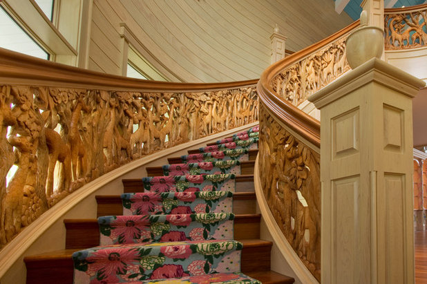 American Traditional Staircase by Widing Custom Homes
