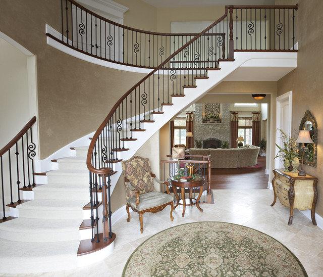 Mediterranean Staircase by Celeste Jackson Interiors, Ltd.