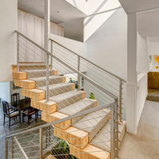 Contemporary Staircase by Lerman Construction Management Services
