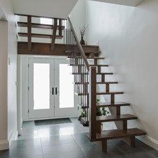 Contemporary Staircase by Dalton Distinctive Renovations