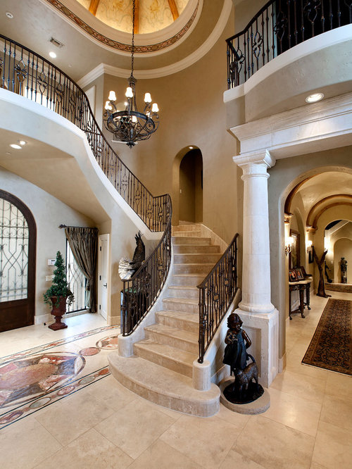 Foyer Stairs Review : Foyer staircase home design ideas pictures remodel and decor