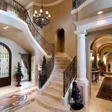 Mediterranean Staircase by Holmes Builders