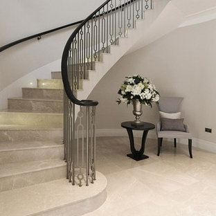 Its a staircase with boxed stringer and laser cut mild steel balustrade.