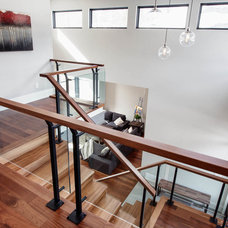 Contemporary Staircase by Bailey Designs