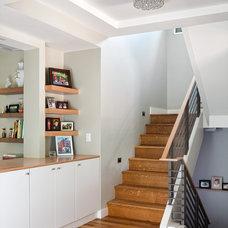 Contemporary Staircase by Melton Design Build