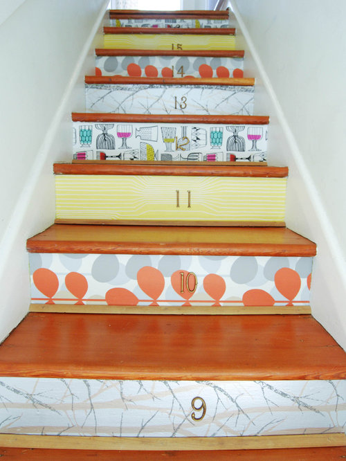 decorating stair risers houzz