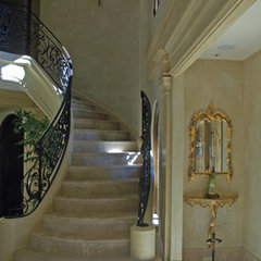 mediterranean staircase by Jessica Hall Associates