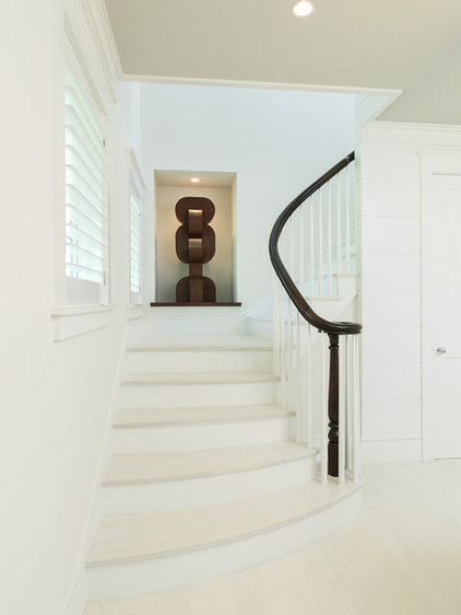 Beach Style Staircase by Chip Webster Architecture