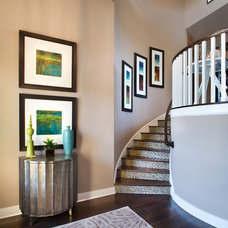 Traditional Staircase by Mary DeWalt Design Group