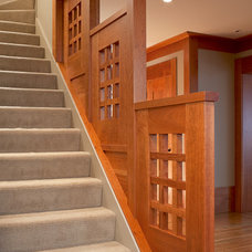 Eclectic Staircase by Jetton Construction, Inc.