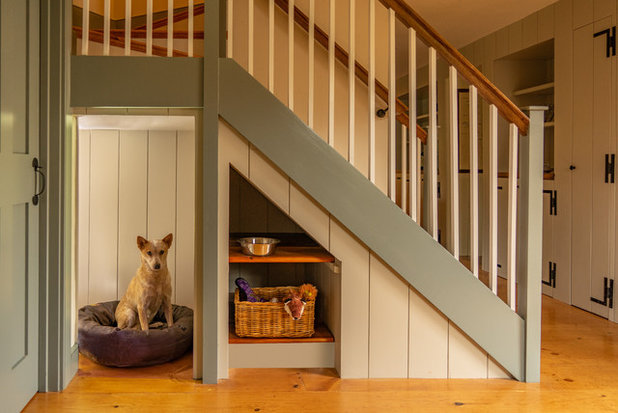 Farmhouse Staircase by Cummings Architects