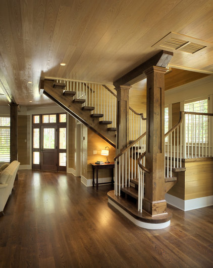 Traditional Staircase by Frederick + Frederick Architects