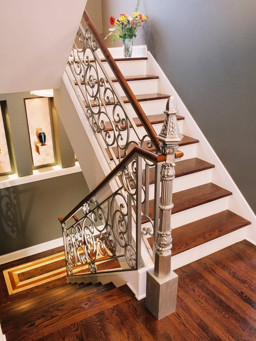 Two Toned Staircase Home Design Ideas, Pictures, Remodel ...
