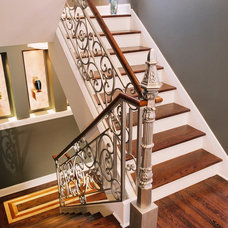 Eclectic Staircase by Jones Design Build