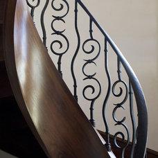 Mediterranean Staircase by Joni Koenig Interiors