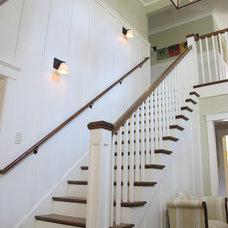 Farmhouse Staircase by Joseph Farrell, Architect