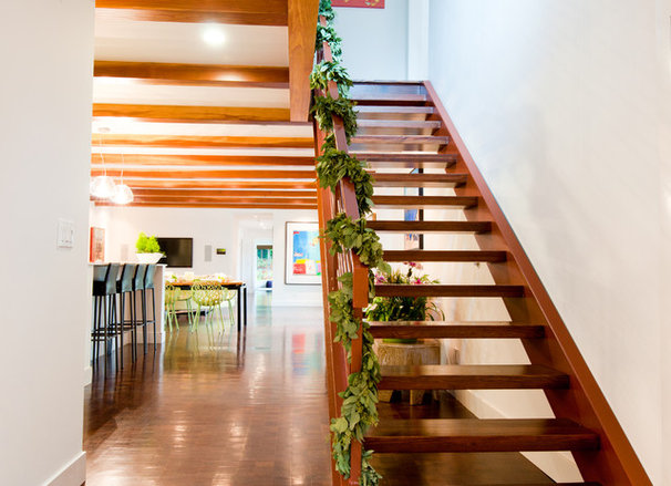 Contemporary Staircase Junior League Holiday Home Tour