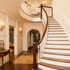 Traditional Staircase by JWH Design and Cabinetry LLC