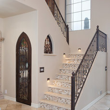Mediterranean Staircase by Hochuli Design & Remodeling Team