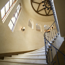 Mediterranean Staircase by James Glover Residential & Interior Design