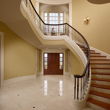 Traditional Staircase by Crawford Builders