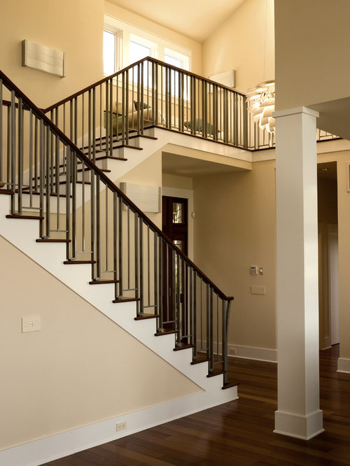 wooden staircase idea in atlanta