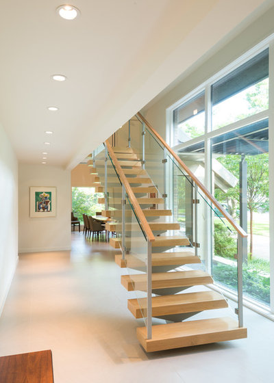 Contemporary Staircase by Kasper Custom Remodeling, LLC